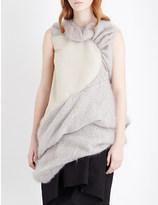 Rick Owens Pleated wool-blend top