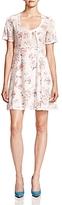 The Kooples Floral Silk Babydoll Dress