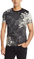 GUESS Men's All Floral Crew T-Shirt