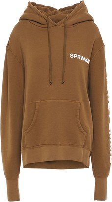 Sprwmn Printed French Cotton-terry Hoodie