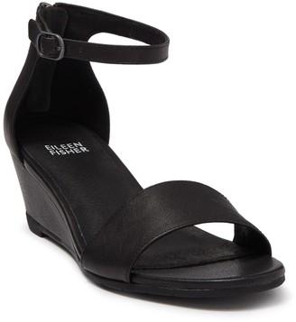 Eileen Fisher Mara Leather Wedge Sandal