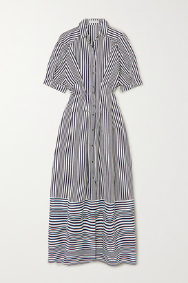 Palmer Harding Sunda Striped Poplin Maxi Shirt Dress - Black