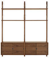 Design Within Reach Royal System Shelving Unit B with Sliding Door Cabinets