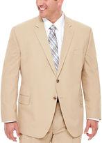 STAFFORD Stafford Khaki Cotton Suit Jacket - Big & Tall