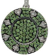 Mirabelle 18K White Gold & Diamond & Tsavorite Players Club Pendant