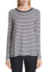 Majestic Filatures Stripe French Terry Top