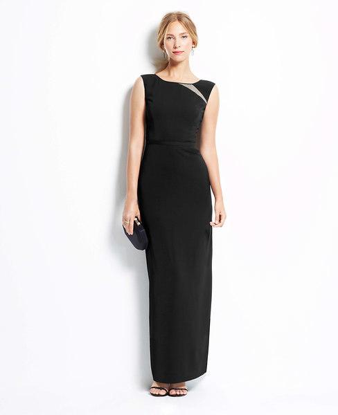 Ann Taylor Petite Illusion Crepe Gown