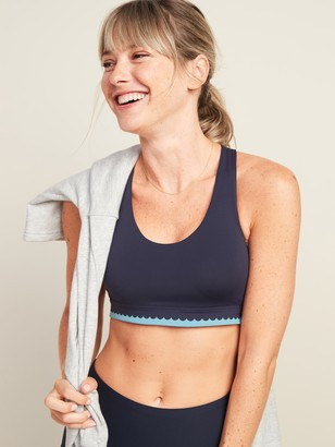 Old Navy Medium Support Powersoft Scalloped-Edge Sports Bra for Women