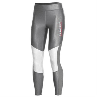 Women's Under Armour Gray Wisconsin Badgers Perforated Pocket Crop Performance Leggings