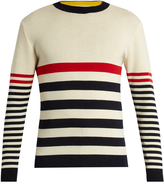 MAISON KITSUNÉ Crew-neck striped wool sweater