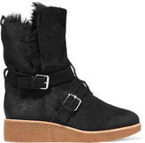 Rebecca Minkoff Perry buckled suede boots