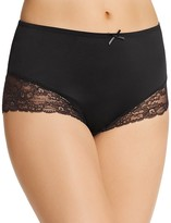 Fine Lines Full Figure Micro Stretch Galloon Lace Brief #MB073