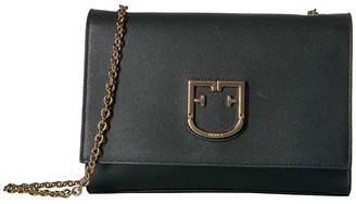 Furla Viva Small Pochette (Onyx) Cross Body Handbags