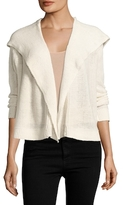 Inhabit Cashmere Chainette Hooded Cardigan
