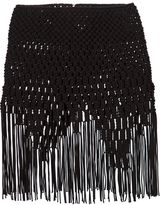 Comme des Garcons fringed hem braided skirt
