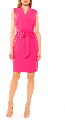 Alexia Admor Savannah Sleeveless Wrap Sheath Dress