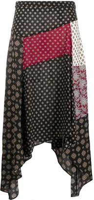 MICHAEL Michael Kors Asymmetric Patchwork Skirt