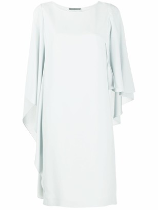Alberta Ferretti Long Draped Sleeves Dress