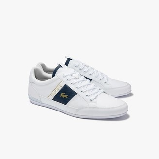 Lacoste Men's Chaymon Leather and Carbon Fibre Trainers