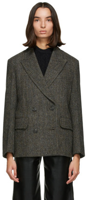 Low Classic Grey Wool Harris Tweed Blazer
