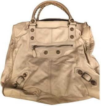 Balenciaga Weekender Ecru Leather Travel bags