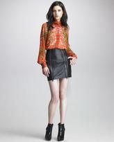 McQ by Alexander McQueen Zipped Leather Miniskirt