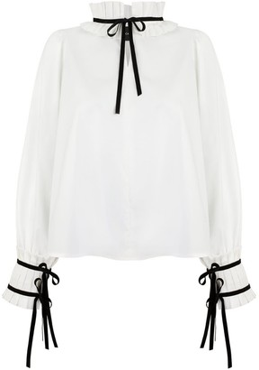 Monica Nera Simone White Cotton Shirt