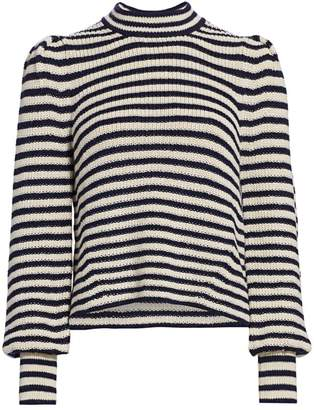 Eleven Paris Six Mia Stripe Baby Alpaca Sweater