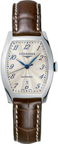 Longines L2.142.4.73.2 Evidenza stainless steel and leather watch