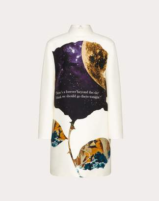 Valentino Undercover Print Crepe Couture Dress Women Multicoloured Virgin Wool 65%, Silk 35% 42