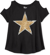 Epic Threads Cold-Shoulder Star Sequin Top, Big Girls (7-16), Only at Macy's