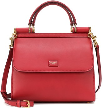 Dolce & Gabbana Sicily Small 58 leather shoulder bag