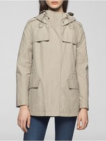 Calvin Klein Cotton Nylon Hooded Jacket