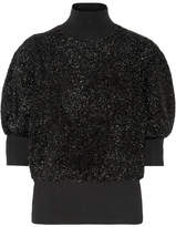 By Malene Birger Anwerpa Metallic Knitted Turtleneck Sweater - Black