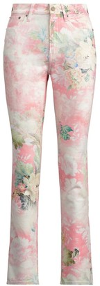 Ralph Lauren Floral High-Rise Slim Fit Jeans