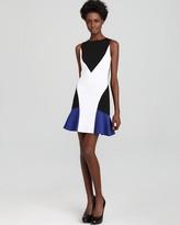 Aqua Color Block Dress - Tennis