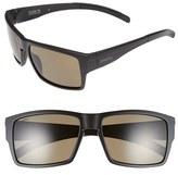 Smith Optics Women's 'Outlier Xl' 56Mm Polarized Sunglasses - Matte Black/ Polarized Green