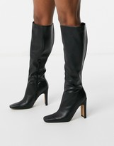 Asos Design DESIGN Carmen knee boot in black