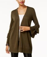 INC International Concepts Anna Sui Loves Ruffled-Sleeve Cardigan, Created for Macy's