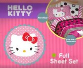 Hello Kitty Beautiful Dots Full Sheet Set Bedding, Pink