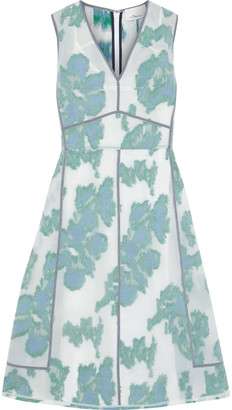 3.1 Phillip Lim Abstract Daisy Crinkled Fil Coupe Organza Dress