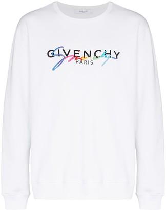 Givenchy Logo Embroidered Sweatshirt