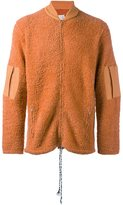 Maison Margiela textured knit zip-up sweatshirt
