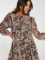 Very Printed Trapeze Dress - Floral