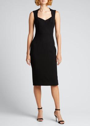 Dolce & Gabbana Wool-Blend Crepe Sheath Midi Dress