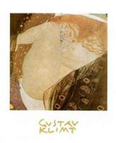 Gustav 1art1 Posters Klimt Poster Art Print - Danae (28 x 20 inches)
