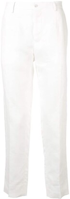 Dolce & Gabbana Cropped Linen Trousers