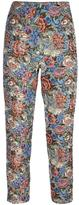 Ermanno Scervino rose jacquard cropped trousers - women - Cotton/Acrylic/Polyester/other fibers - 38
