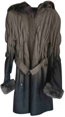 Ventcouvert Anthracite Leather Coat for Women