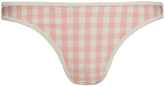 Solid & Striped The Miranda Pink Gingham Bikini Brief